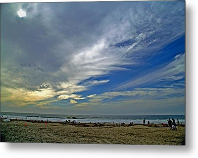 Metal Print featuring the photograph Clouds And Blue by Christopher Woods