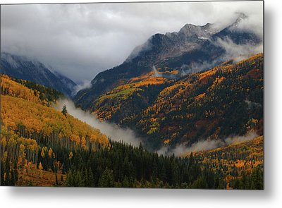 Metal Print featuring the photograph Clouds And Fog Encompass Autumn At Mcclure Pass In Colorado by Jetson Nguyen