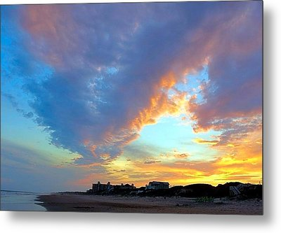 Clouds At Sunset Metal Print by Betty Buller Whitehead