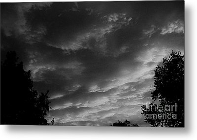 Clouds Before The Storm Metal Print by Marsha Heiken