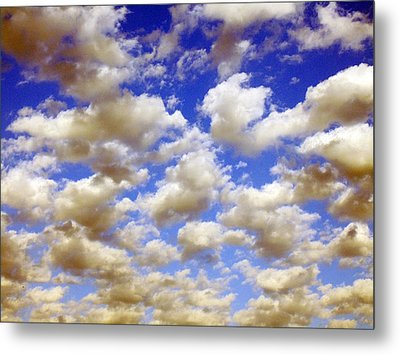 Metal Print featuring the digital art Clouds Blue Sky by Jana Russon