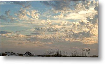 Clouds Gulf Islands National Seashore Florida Metal Print by Paul Gaj