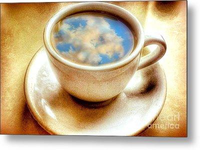 Clouds In My Coffee Metal Print