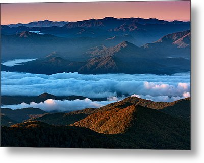 Clouds In The Valley Metal Print by Rick Berk