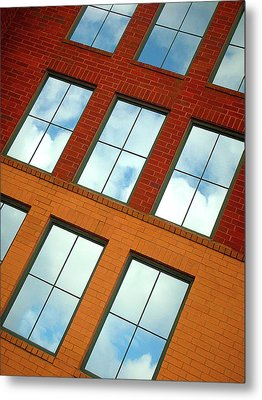 Clouds In The Windows Metal Print