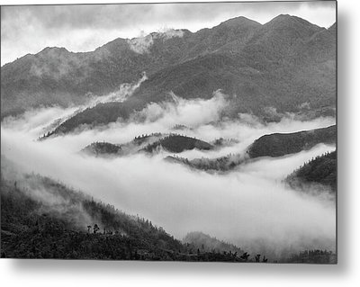 Metal Print featuring the photograph Clouds In Valley, Sa Pa, 2014 by Hitendra SINKAR