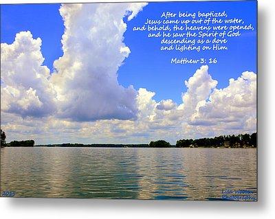 Clouds Matthew 3 16 Metal Print