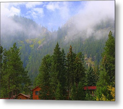 Clouds On The Mountain Metal Print
