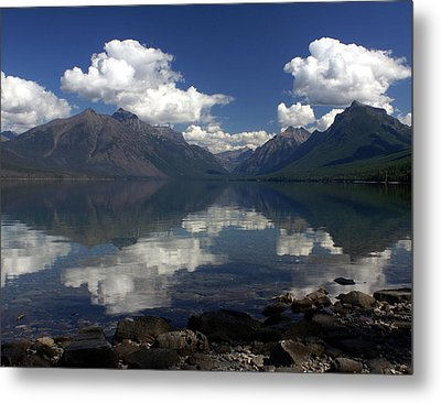 Clouds On The Water Metal Print by Marty Koch