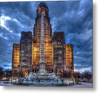 Clouds Over City Hall Metal Print by Don Nieman