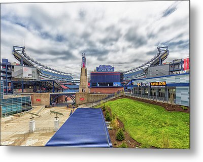 Clouds Over Gillette Stadium Metal Print by Brian MacLean