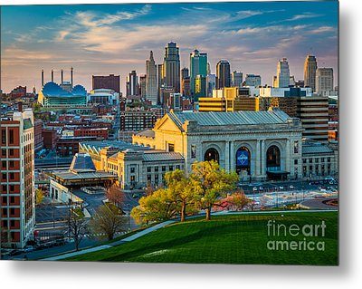 Clouds Over Kansas City Metal Print by Inge Johnsson