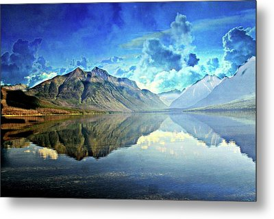 Clouds Over Lake Mcdonald 2 Metal Print by Marty Koch