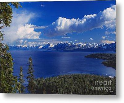 Clouds Over Lake Tahoe Metal Print by Vance Fox