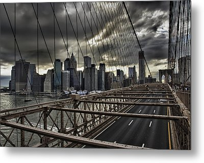Clouds Over Manhattan Metal Print by Andreas Freund