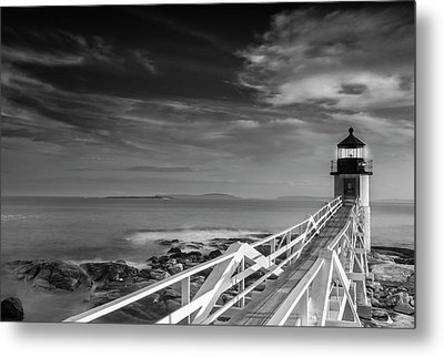 Metal Print featuring the photograph Clouds Over Marshall Point Lighthouse In Maine by Ranjay Mitra