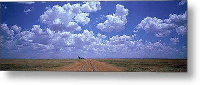 Clouds Over Prairie Amarillo Tx Metal Print