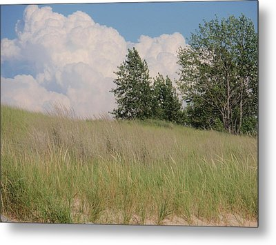 Metal Print featuring the photograph Clouds Over Sand Dunes by Beth Akerman