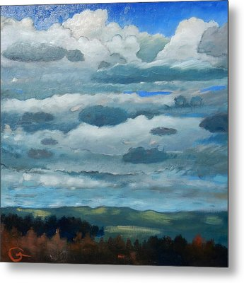 Metal Print featuring the painting Clouds Over South Bay by Gary Coleman