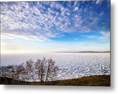 Clouds Over The Bay Metal Print by Onyonet  Photo Studios