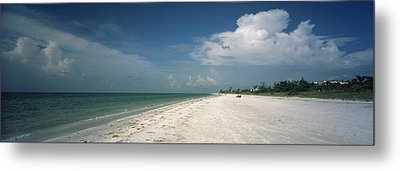Clouds Over The Beach, Lighthouse Metal Print by Panoramic Images