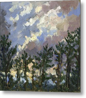 Clouds Over The Pines Tanglewood Metal Print by Thor Wickstrom
