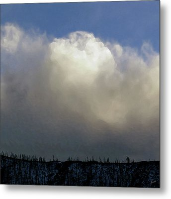 Clouds Over The Ridge Metal Print by Agustin Goba