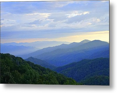 Clouds Over The Smokey's Metal Print by Laurie Perry