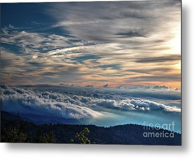 Metal Print featuring the photograph Clouds Over The Smoky's by Douglas Stucky