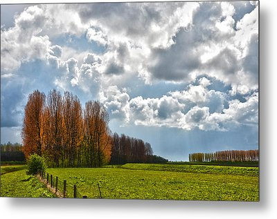 Clouds Over Voorne Metal Print