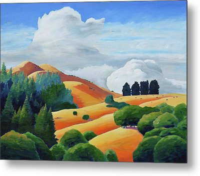 Clouds Over Windy Hill Metal Print by Gary Coleman