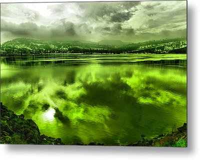 Metal Print featuring the photograph Clouds Reflecting Off The Columbia  by Jeff Swan