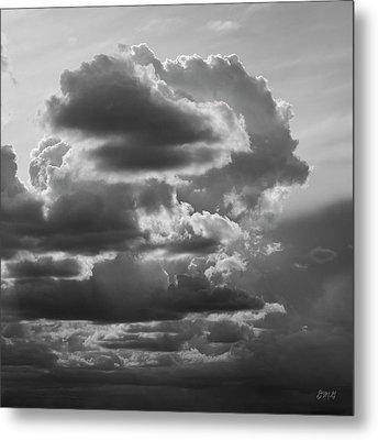Cloudscape Xv Bw Sq Metal Print
