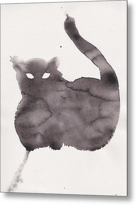 Metal Print featuring the painting Cloudy Cat by Marc Philippe Joly