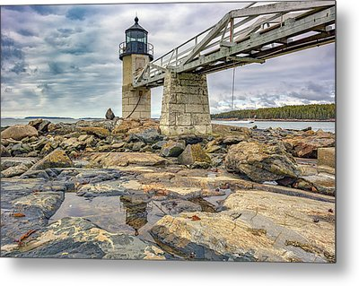 Metal Print featuring the photograph Cloudy Day At Marshall Point by Rick Berk