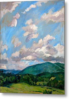 Cloudy Day Berkshires Metal Print by Thor Wickstrom