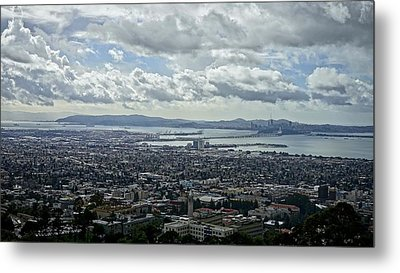 Cloudy Day Over The Bay Metal Print
