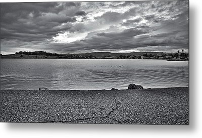 Cloudy East Bay Hills From The Bay Metal Print