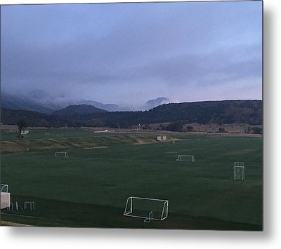 Metal Print featuring the photograph Cloudy Morning At The Field by Christin Brodie
