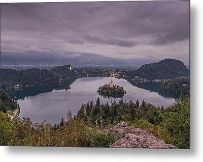 Cloudy Morning Metal Print by Robert Krajnc