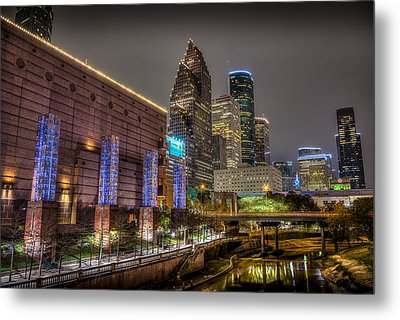 Metal Print featuring the photograph Cloudy Night In Houston by David Morefield