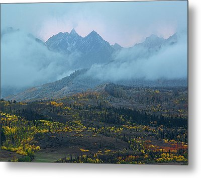 Metal Print featuring the photograph Cloudy Peaks by Aaron Spong