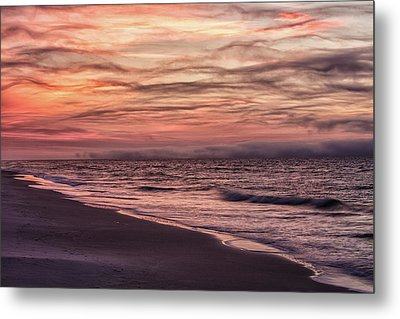 Metal Print featuring the photograph Cloudy Sunrise At The Beach by John McGraw