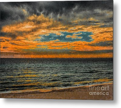 Cloudy Sunrise Metal Print by Dave Bosse