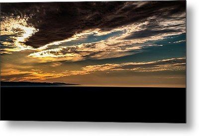 Cloudy Sunset Metal Print by Onyonet  Photo Studios
