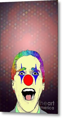 Metal Print featuring the drawing clown Christian Bale by Jason Tricktop Matthews