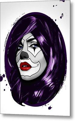 Clown Girl Metal Print by Nicklas Gustafsson