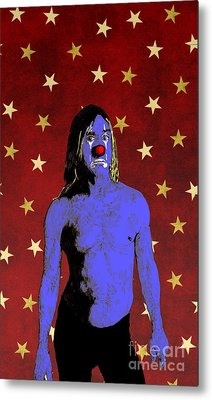 Metal Print featuring the drawing Clown Iggy Pop by Jason Tricktop Matthews