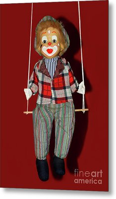 Metal Print featuring the photograph Clown On Swing By Kaye Menner by Kaye Menner