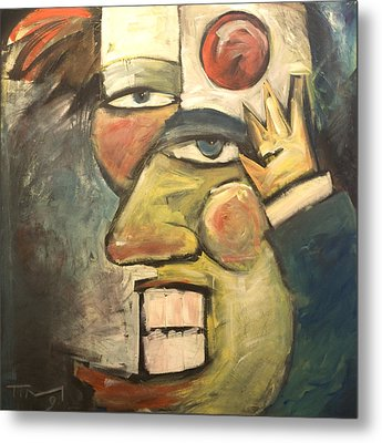 Clown Painting Metal Print by Tim Nyberg